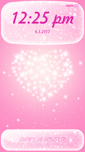 Android Glitter App Lock Screen 5