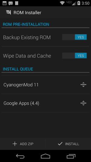 ROM Installer 1.3.4.0 Screen 4