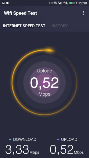 Android Wifi Speed Test Screen 1