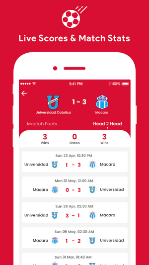 Android Football Live TV Screen 3