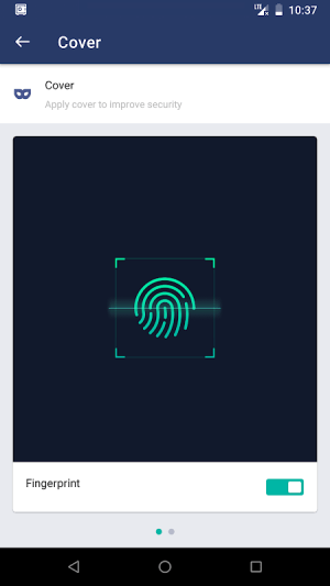 AppLock 3.0.7 Screen 1
