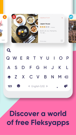 Fleksy: Fast Keyboard + Stickers, GIFs & Emojis 9.9.1c Screen 2