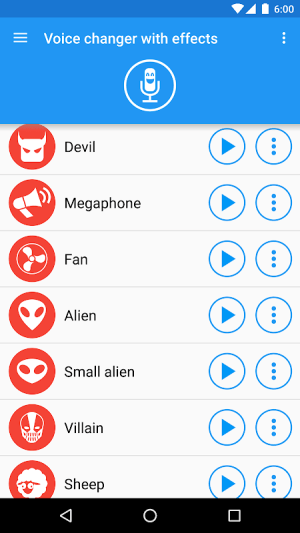Android Voice changer with effects Screen 3
