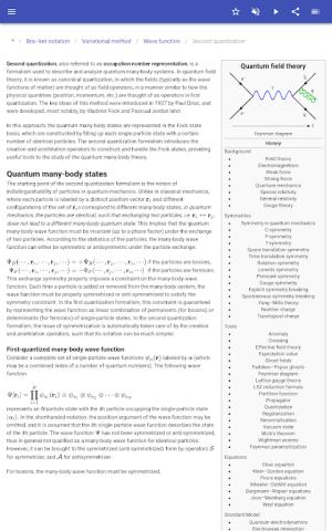 Quantum mechanics 8.5.4 Screen 1
