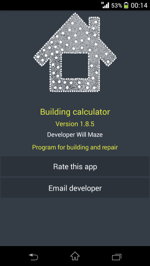 Building calculator 1.9.0 Screen 6