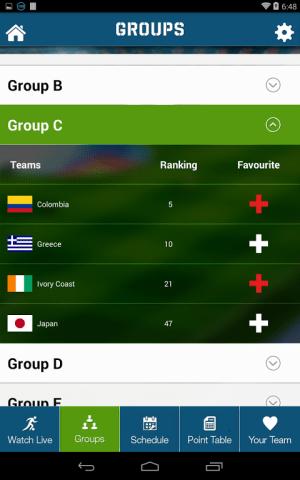 Live Football World Cup 2014 1.0 Screen 5