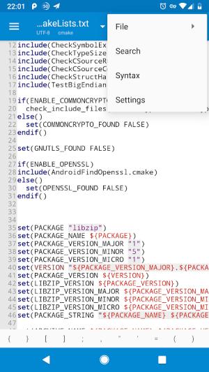 NMM Text Editor 1.5.0 Screen 2