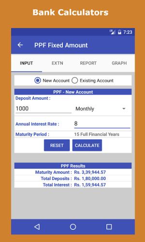 Android Financial Calculator India Screen 2