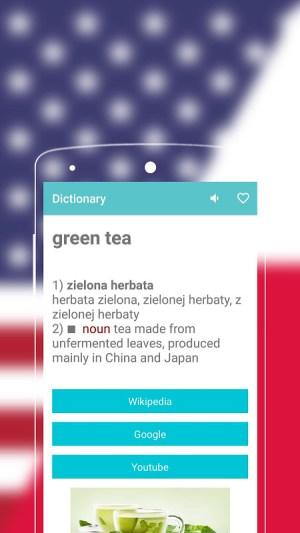Android English to Polish Dictionary Screen 1