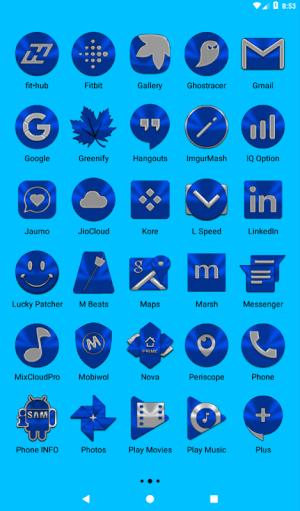 Blue Icon Pack ✨Free✨ 3.8 Screen 15