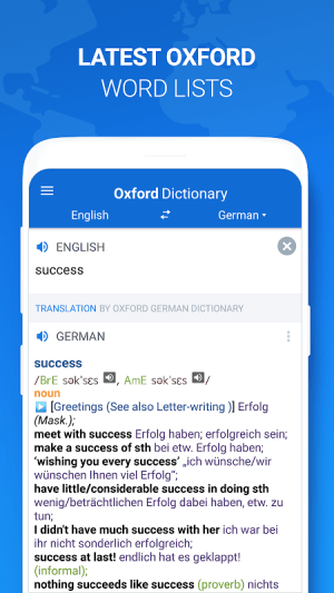 Android Оxford Dictionary with Translator Screen 1