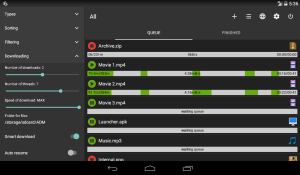 Android Advanced Download Manager Screen 2
