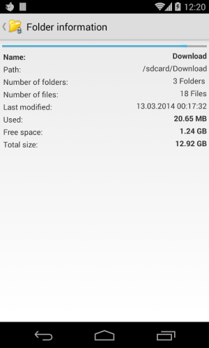 Android File explorer Screen 4