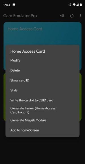 NFC Card Emulator Pro (Root) 6.0.3 Screen 2