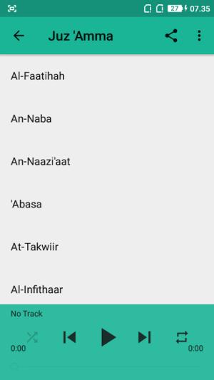 Juz 30 Mishary Rasyid Offline 1.1.0 Screen 4
