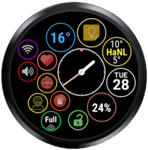 Bubble Cloud Tile Launcher Watchface (WearOS) 9.70 Screen 27