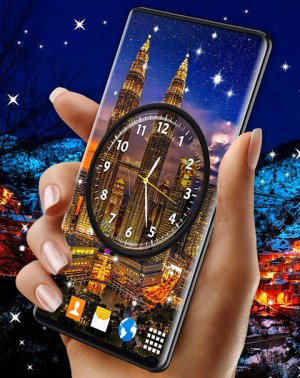 Android Night Sky Clock HD Pro 🌜 4K Live Wallpaper Themes Screen 6