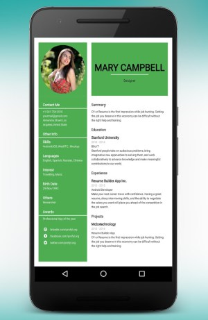 CV Maker Resume Builder PDF Template Format Editor 9.1.18.pro Screen 8