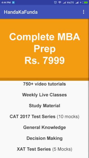 CAT MBA Exam Prep by Handa Ka Funda 1.4 Screen 4