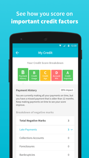 Credit Sesame 3.1.3 Screen 1