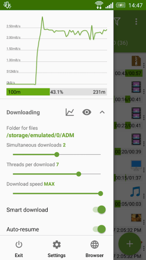 Android Advanced Download Manager Screen 5