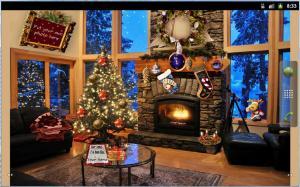 Christmas Fireplace LWP Full 1.81 Screen 4