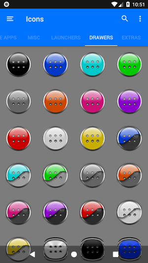 Black Icon Pack Free 3.9 Screen 11
