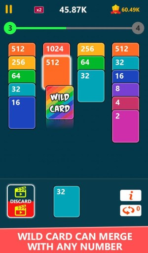Android 2048 Solitaire Card Game Screen 1