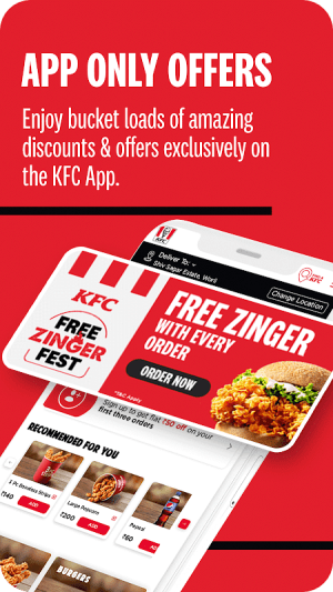 KFC Online Order and Food Delivery 5.2 Screen 1