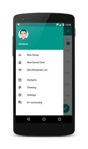 Android Plus Messenger Screen 1