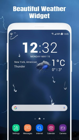 Android Real-time weather report Screen 5