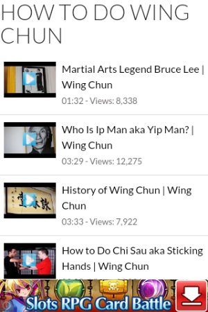 Android How to Do Wing Chun Screen 2