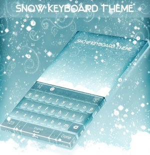 Android Snow Keyboard Theme Screen 3