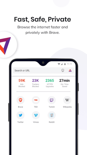 Brave Privacy Browser: Fast, safe, private browser 1.5.4 Screen 9