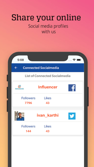 Influencer India 3.0.0 Screen 3