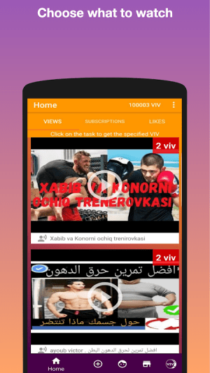 VideoVTope - show everyone your video! 3.1.1 Screen 2