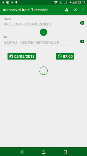 Android Autoservizi Irpini Timetable Screen 1