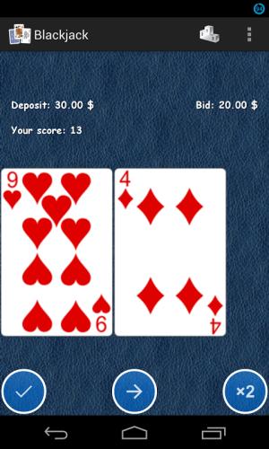 Blackjack 21 1.0.4 Screen 2