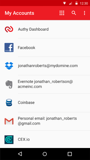 Authy 2-Factor Authentication 24.2.0 Screen 6