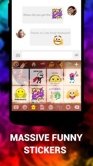 Cute Emoji Keyboard Premium - GIF, Emoticons 1.5.4.0 Screen 3