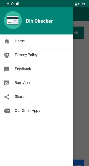 Android Bin Checker - Check Card Information Screen 3