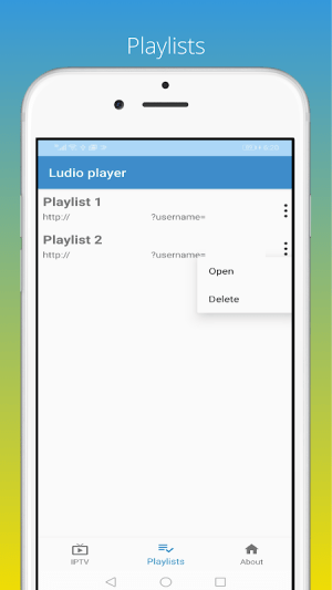 Android Ludio player for IPTV Screen 2