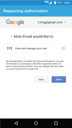 Moto Email MOTOEMAIL.00.09.0071 Screen 1