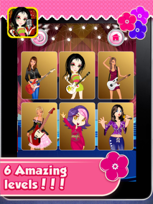 Android Rockstar Girl Dressup Screen 1