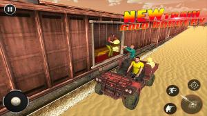 Android Train Robbery shooting game: Gold Robbery Crime Screen 1