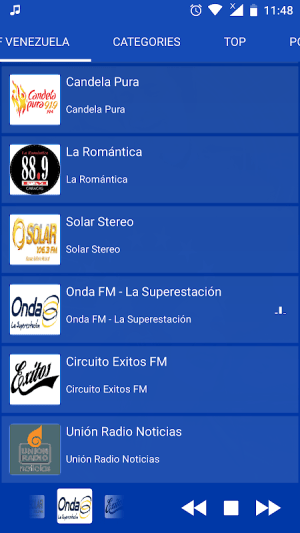 Android Venezuela Radio - Live FM Player Screen 5