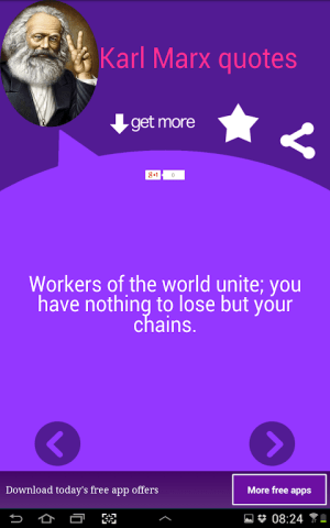 Android Karl Marx Quotes Screen 3