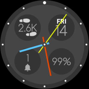 Bubble Cloud Tile Launcher Watchface (WearOS) 9.70 Screen 11
