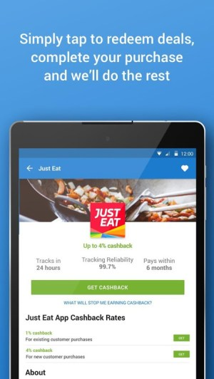 Android Quidco - Cashback, Discounts & Voucher Codes Screen 6