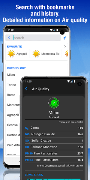 the Weather+ 2.24.2 Screen 8